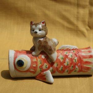鯉のぼり 柴犬 陶器