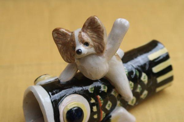 パピヨン 鯉のぼり 陶器 プレゼント こどもの日