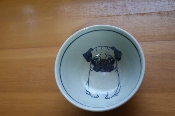 パグ 陶器 染付 器 食器