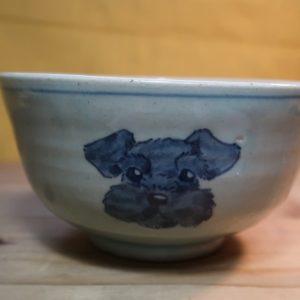 シュナウザー 陶器 染付 器 食器