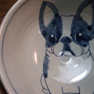 フレンチブル 陶器 染付 器 食器