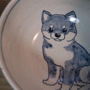 柴犬 陶器 染付 器 食器