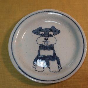 陶器 染付 器 食器 シュナウザー 皿