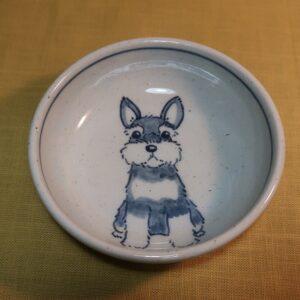 陶器 染付 器 食器 シュナウザー 小平鉢