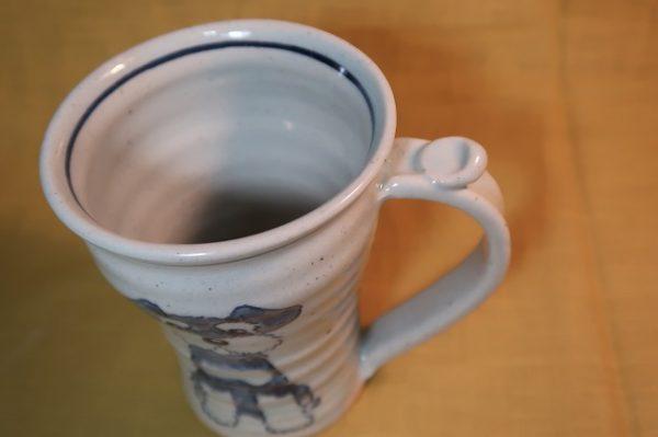 明正窯 陶器 染付 器 食器 シュナウザー マグカップ