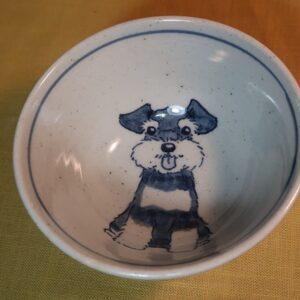 明正窯 陶器 染付 器 食器 シュナウザー 飯碗
