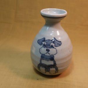 明正窯 陶器 染付 器 食器 ペット シュナウザー とっくり
