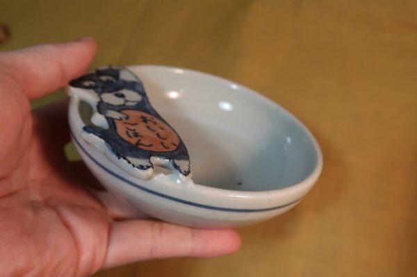 明正窯 陶器 ペット シュナウザー お玉立て 器