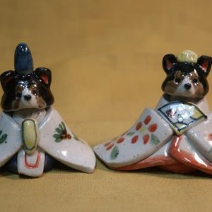 明正窯 陶器 ペット お雛様 人形 シェルティ