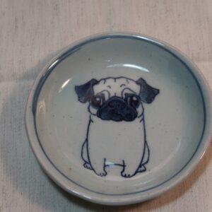 明正窯 陶器 ペット 食器 器 皿 パグ