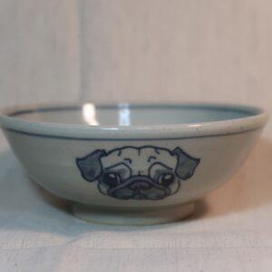 明正窯 陶器 ペット 食器 器 皿 飯碗 パグ