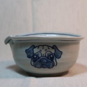 明正窯 陶器 ペット 食器 器 パグ 片口