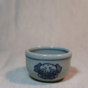 明正窯 陶器 ペット 食器 器 パグ 盃