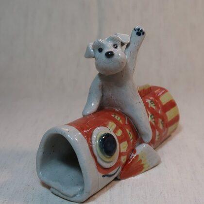 鯉のぼり(赤) 白シュナ