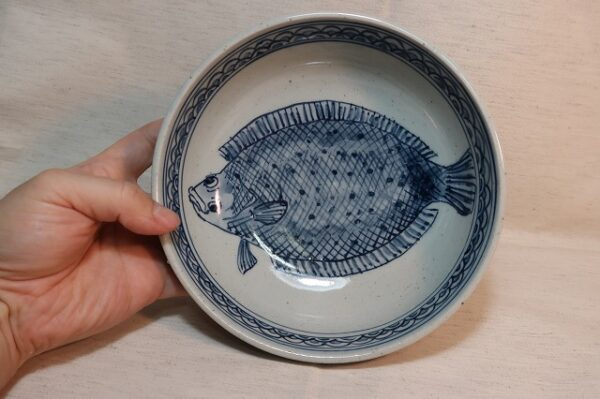 ヒラメ 魚 器 鉢