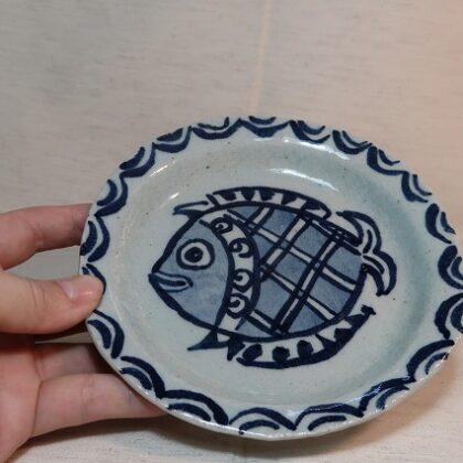 16cm皿 魚