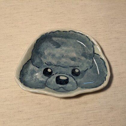 型皿 トイプードル顔