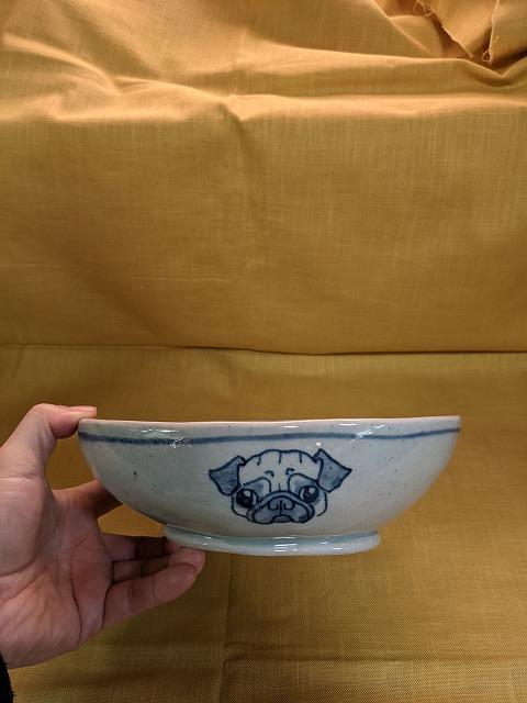 楕円鉢 パグ